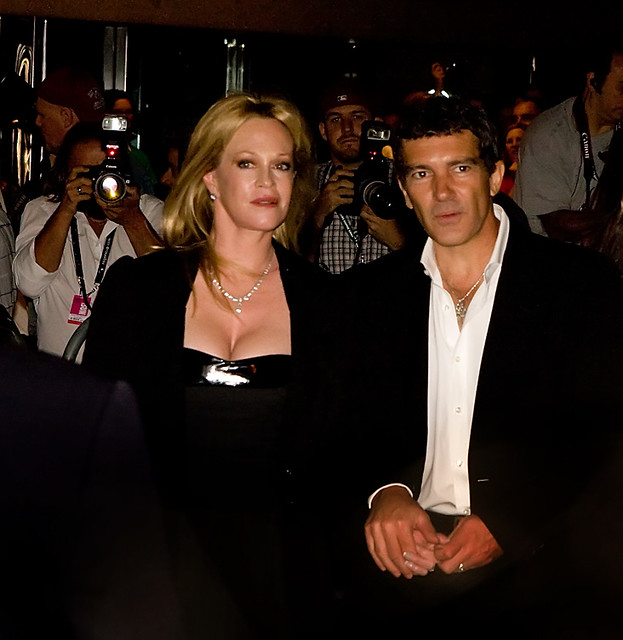 Antonio Banderas with wife, Melanie Griffith