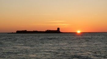 Sancti Petri Castle Sunset