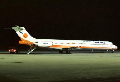 Lineas Aereas Canarias MD-83 EC-EJZ GRO 09/11/1989