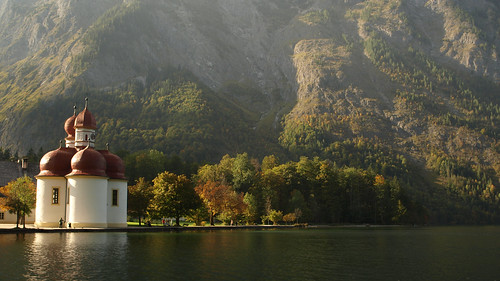 Озеро Кёнигзее. St. Bartholomew. Kenigsee Lake. Germany