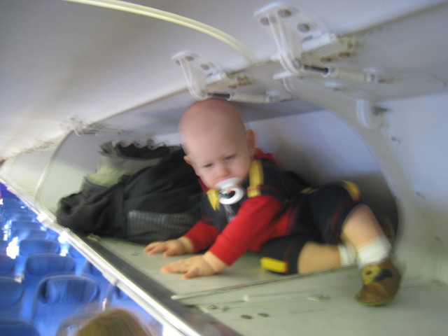 peoples kids opks annoying drugged stuffed overhead compartment flight
