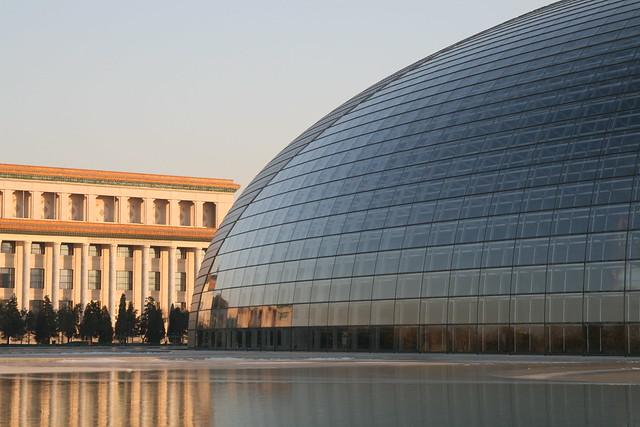 El Gran Teatro Nacional, Pekín, China.