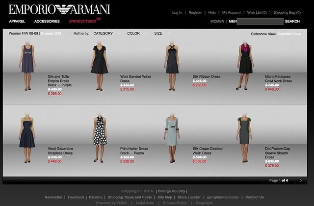 Emporio Armani Women's Dresses - Fall Winter - Emporio Armani Dresses ...