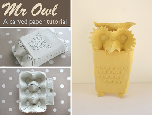 Owl carved paper tutorial