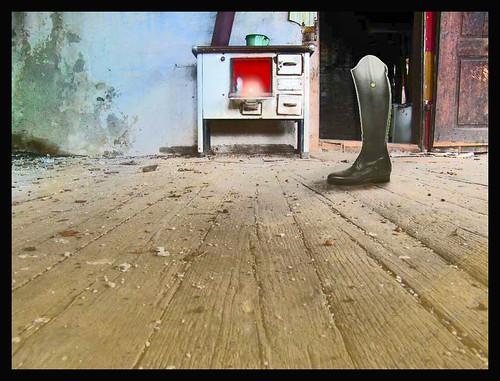 Boot, Stove and Door