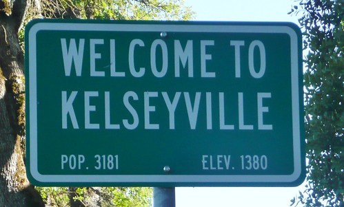 KELSEYVILLE CALIFORNIA CITY LIMIT SIGN