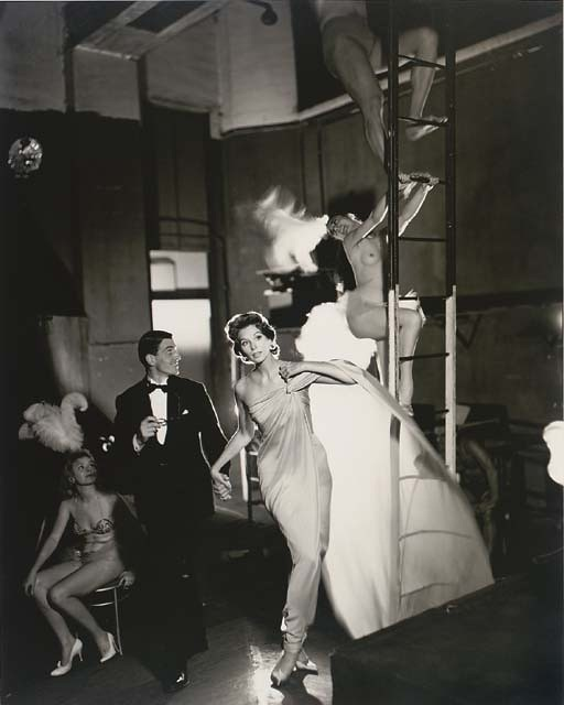 Suzy Parker and Robin Tattersall, Folies-Bergère, Paris, 1957, by Richard Avedon