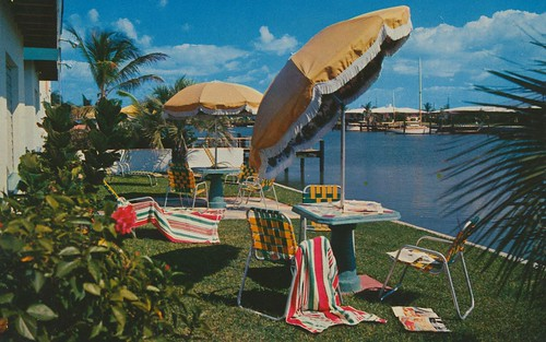 vintage florida postcard motel clearwaterbeach hytyde