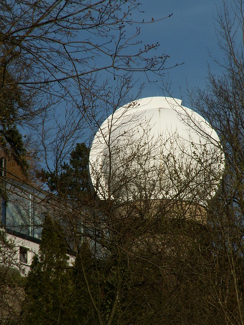 Liebe Musik der Sterne in wunderbarer ferne der Ardenne Sternwarte