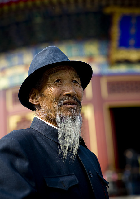 Old man with a hat, Beijing, China