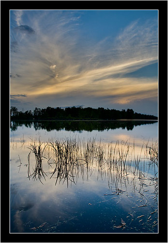 sunset ontario canada reflection water landscape hdr fitzroyharbour citrit