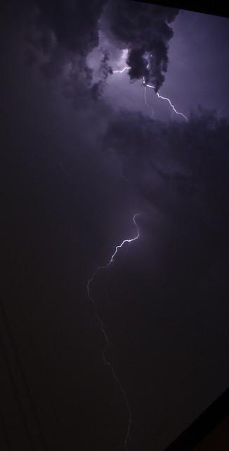 Third Lightning in the sky