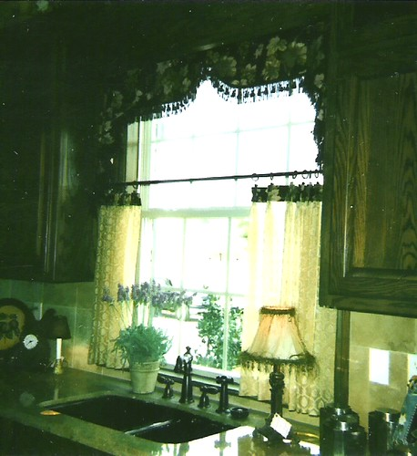 Unique kitchen valance with cafe curtains flickr photo sharing