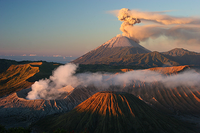 Bromo and Semeru at Sunrise