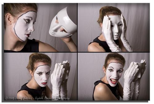 test girl canon model pretty mask makeup mime strobe nastasha strobist canonef28105mmf3545usm modelmayhem canon40d keyholeproductionsphotography mimeface nastashamm729749