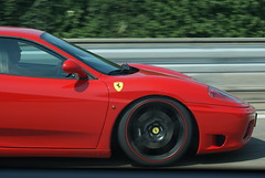 automobile(1.0), wheel(1.0), vehicle(1.0), performance car(1.0), automotive design(1.0), ferrari f430 challenge(1.0), ferrari f430(1.0), ferrari 360(1.0), bumper(1.0), land vehicle(1.0), luxury vehicle(1.0), sports car(1.0),