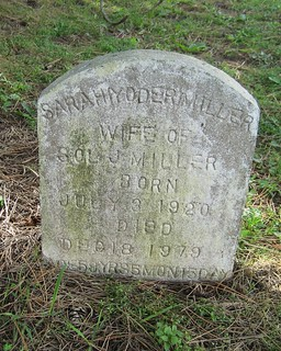 Sarah Yoder Miller, wife of Sol J. buried at the Amish Cemetery, Malahide, Elgin, Ontario, Canada