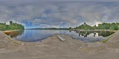 LochInsh: Jetty Loch Insh Scotland Equirectangular