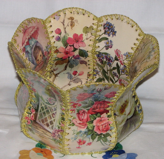 vintage greeting card baskets a gallery on flickr