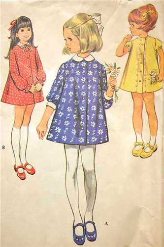 Vintage Button Front Dress Pattern with Collar