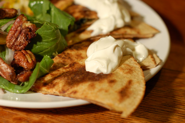 Spinach-Onion Quesadillas