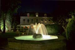 Chateau de Challanges par nuit