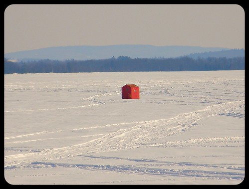 Ice Fishing:  Pushaw Lake, Maine