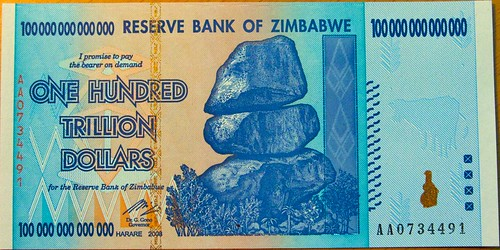 Zimbabwe Currency Note