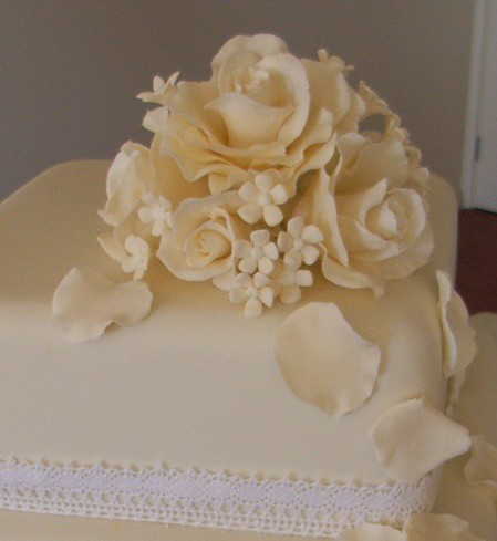 Antique wedding cake The brides mother inlaw made the fruit cake I iced
