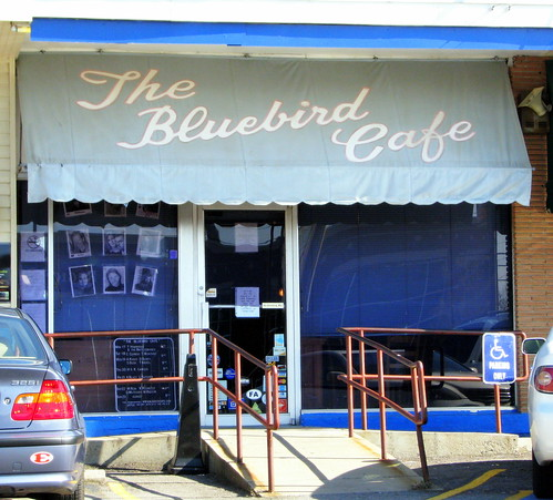 The Bluebird Cafe storefront