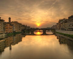 Wallpaper: Sunset on the Arno