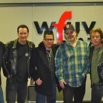 Lee Rocker at WFUV with Darren DeVivo