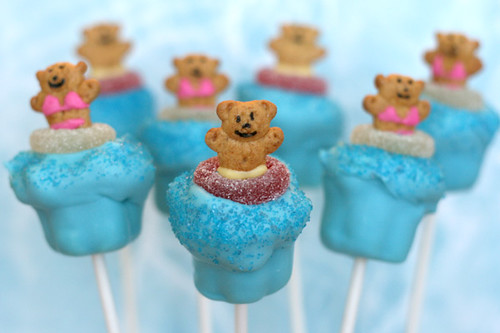 Pool Party Cupcake Pops | Flickr - Photo Sharing!