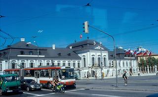Grassalkovich Palace Bratislava yakın görüntü. 2000 slovakia bratislava danube donau pressburg