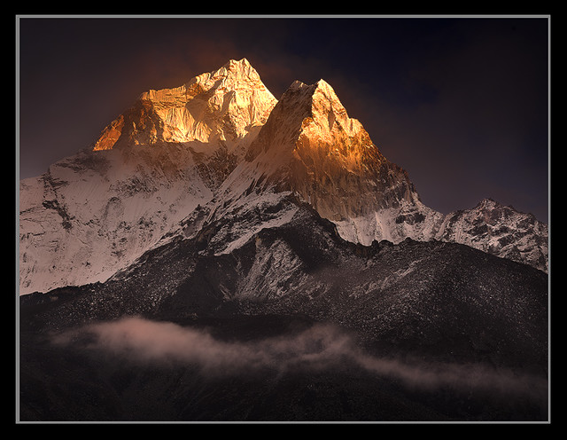 Clearing Storm over Ama Dablam by Michael Anderson