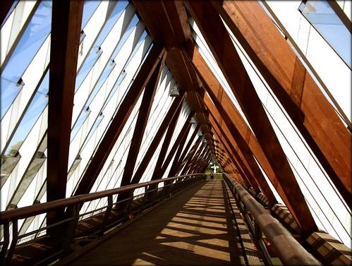Bridge crossing Neckar - Remseck, Germany
