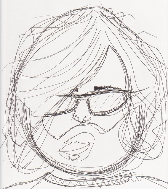 Modified Contour Line Drawing : Modified blind contour self portrait flickr photo sharing
