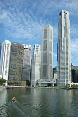 blue sky Vs Singapore River
