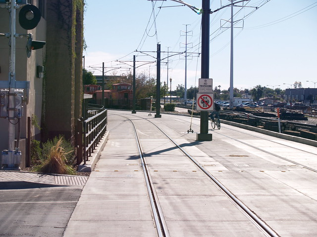 Valley metro light rail and insane cyclist flickr photo sharing