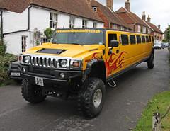 hummer h1(0.0), hummer h2(0.0), hummer h3t(0.0), automobile(1.0), automotive exterior(1.0), sport utility vehicle(1.0), vehicle(1.0), off-road vehicle(1.0), bumper(1.0), land vehicle(1.0), luxury vehicle(1.0), limousine(1.0), motor vehicle(1.0),