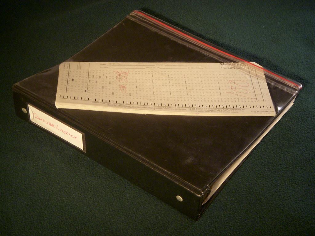 1983 Computer Literacy Binder