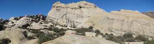 A large panorama of Piedra Blanca, Los Padres National Forest