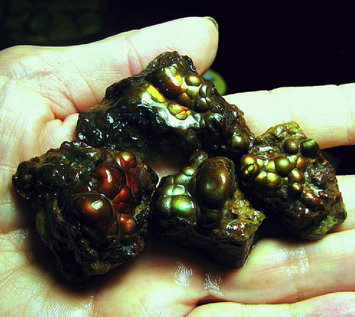 Deer Creek Fire Agate Rough