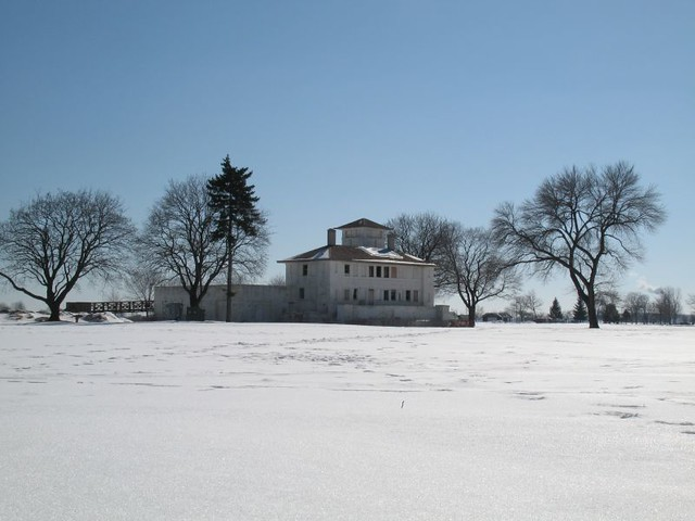 Old Coast Guard Station across McKinley Park fields