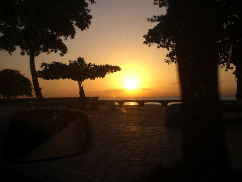 sun sol sunrise amanecer malecon santodomingo