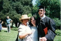 Mom Kim and Bert at U of Redlands Graduation - 1997