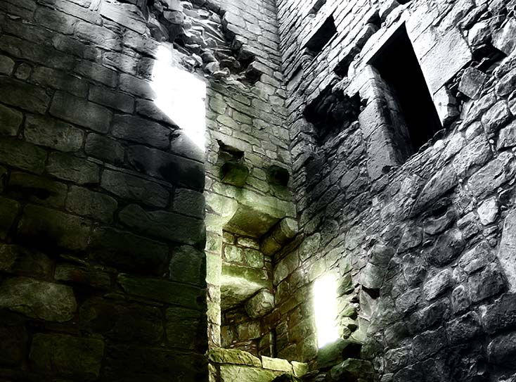 Photography - Hermitage Castle Beam by Nicholas M Vivian