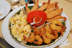 hors d'oeuvre(0.0), fish(0.0), chicken fingers(0.0), meal(1.0), frying(1.0), fried food(1.0), fried prawn(1.0), thai food(1.0), seafood(1.0), meat(1.0), food(1.0), dish(1.0), cuisine(1.0), fast food(1.0), tempura(1.0),