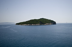 A Nearby Island From Atop Dubrovnik's City Walls