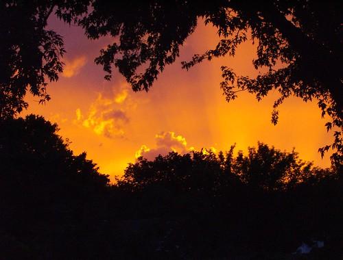 sunset storm clouds iowa dubuque